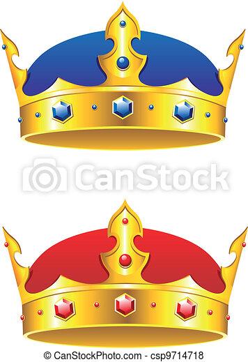 Rey coronado con gemas y adornos - csp9714718