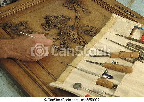 ember, ajtó, felújít, szekrény - csp5559937