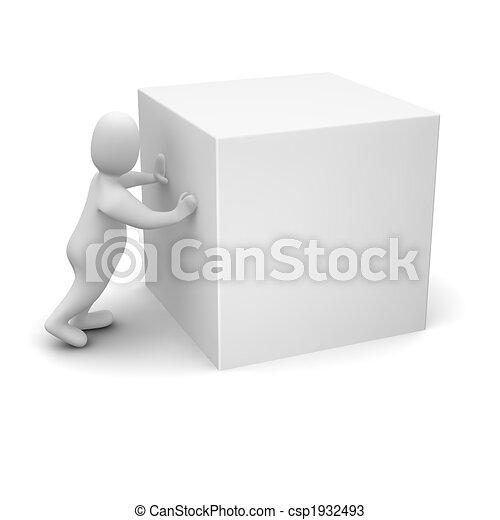 ember, köb, rámenős, tiszta - csp1932493