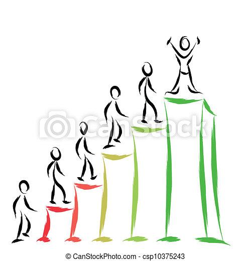 emberek, siker - csp10375243