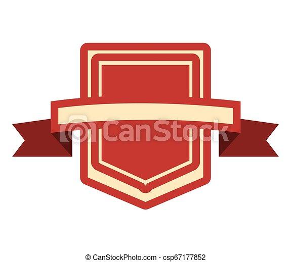 emblème, écusson, vide, gabarit - csp67177852