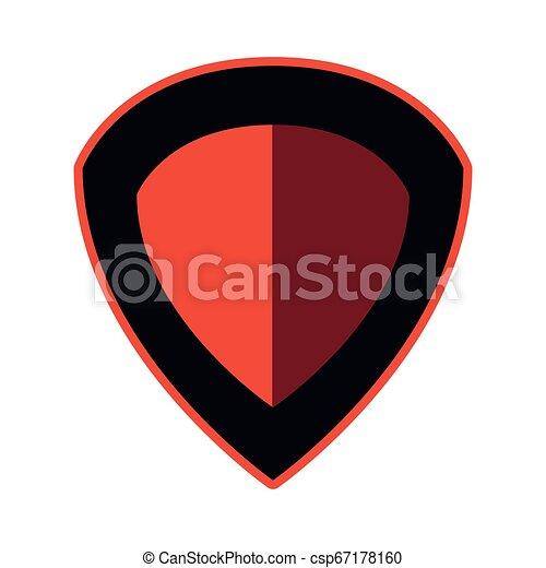 emblème, écusson, vide, gabarit - csp67178160