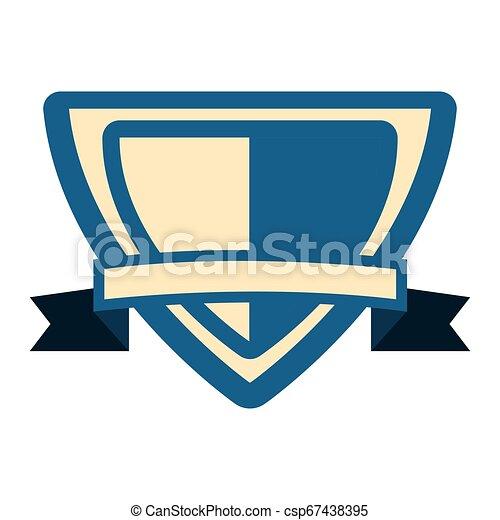 emblème, écusson, vide, gabarit - csp67438395
