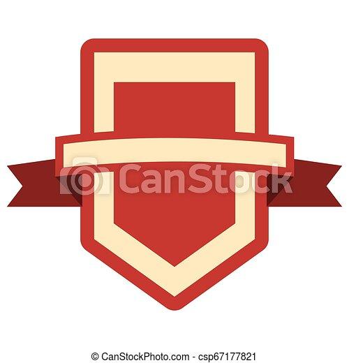 emblème, écusson, vide, gabarit - csp67177821