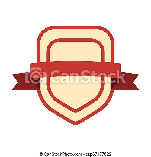 emblème, écusson, vide, gabarit - csp67177822