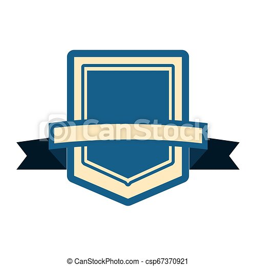 emblème, écusson, vide, gabarit - csp67370921