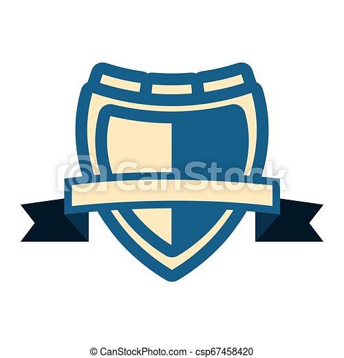 emblème, écusson, vide, gabarit - csp67458420