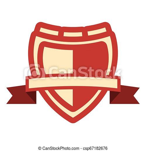 emblème, écusson, vide, gabarit - csp67182676