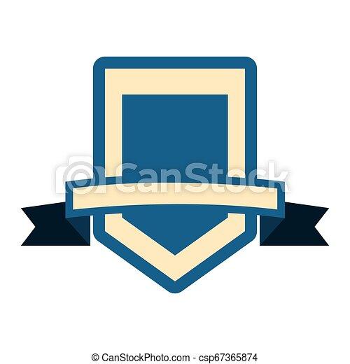 emblème, écusson, vide, gabarit - csp67365874