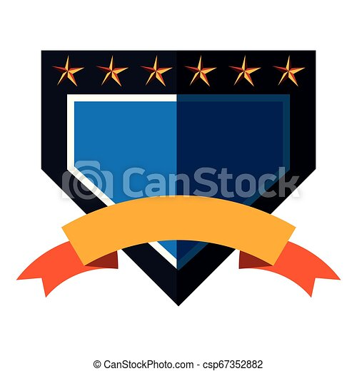 emblème, écusson, vide, gabarit - csp67352882