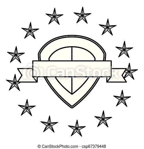 emblème, écusson, vide, gabarit - csp67379448