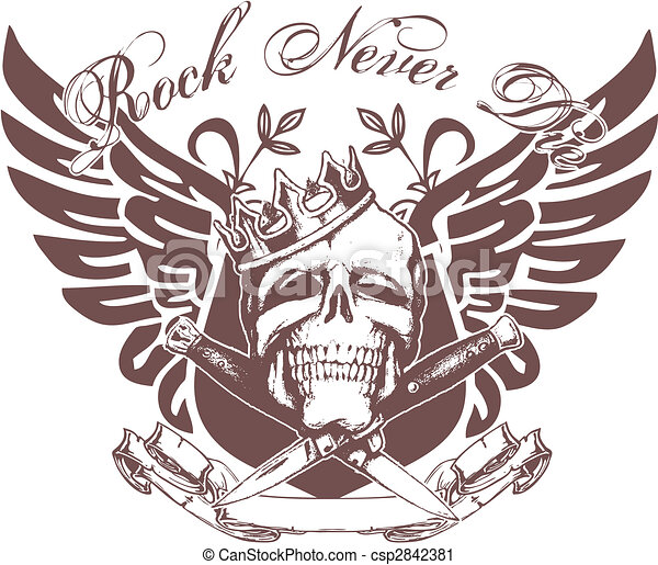 emblème, crâne - csp2842381