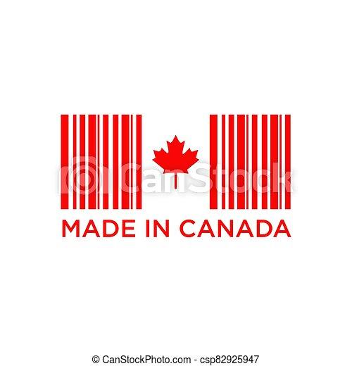 emblème, fait, logo, conception, canada, produit - csp82925947