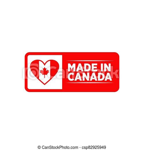 emblème, fait, logo, conception, canada, produit - csp82925949