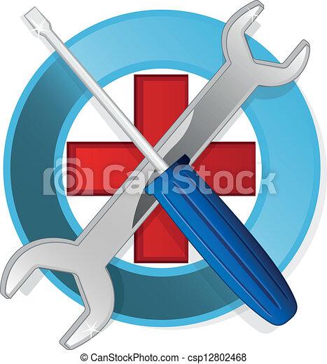 emblème, gabarit - csp12802468