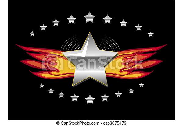 emblème, gabarit - csp3075473