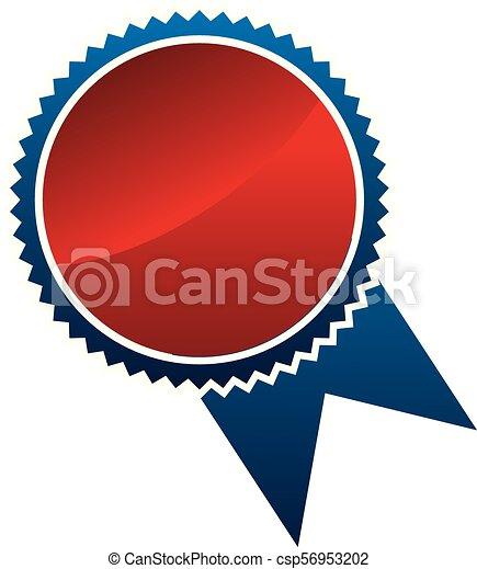 emblème, gabarit, vide - csp56953202