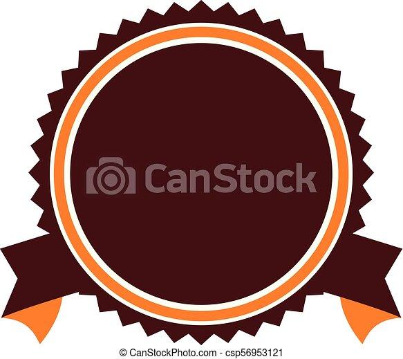 emblème, gabarit, vide - csp56953121
