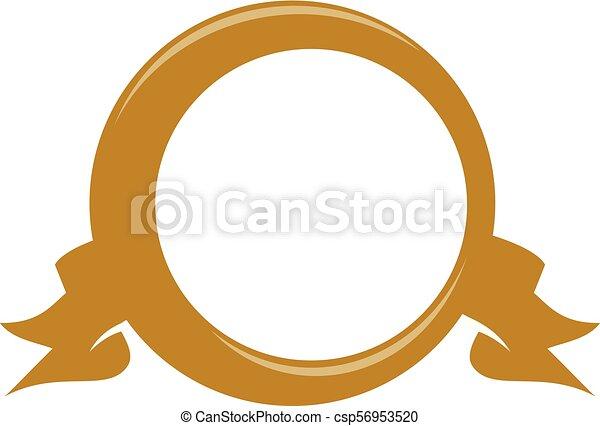 emblème, gabarit, vide - csp56953520