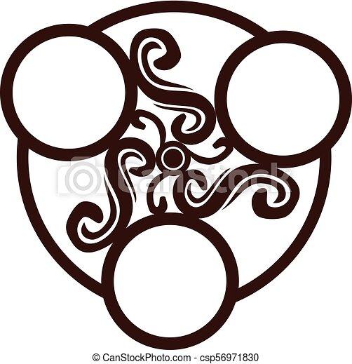 emblème, gabarit, vide - csp56971830