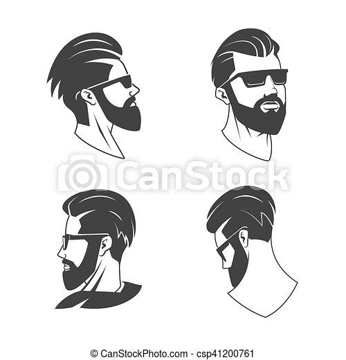embl me vecteur hipster salon coiffure homme barbe clip art vectoriel rechercher des. Black Bedroom Furniture Sets. Home Design Ideas