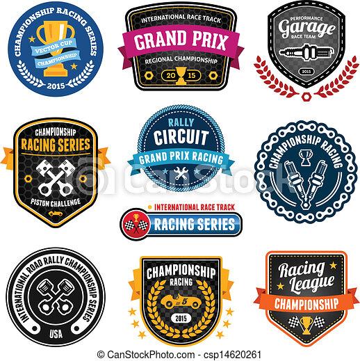 emblèmes, courses - csp14620261