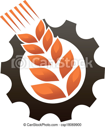 embleem, industrie, het vertegenwoordigen, landbouw - csp18069900