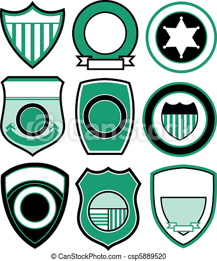 emblem badge shield design - csp5889520