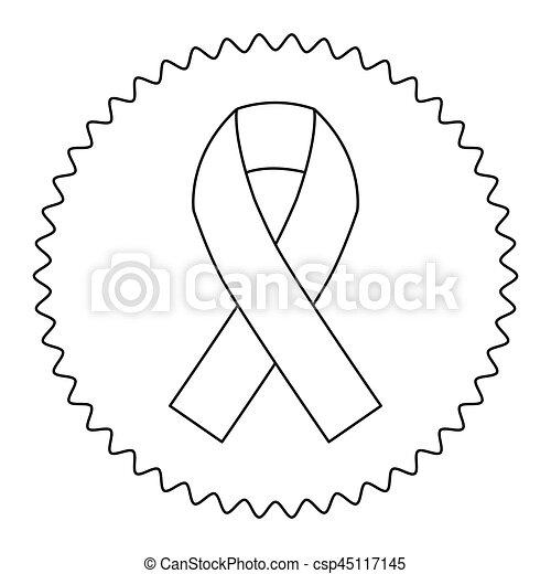 Emblem Breast Cancer Ribbon Image Vector Illustration Design Icon