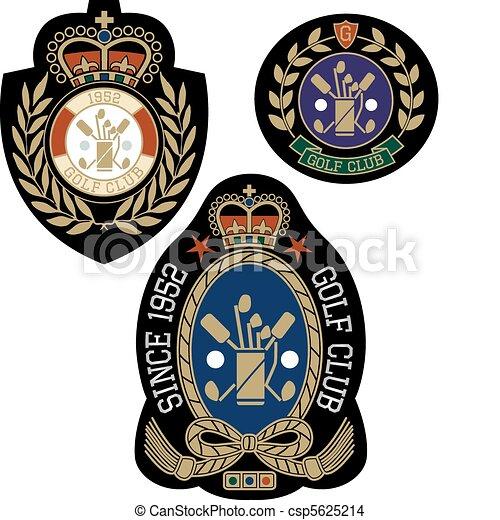emblem, design, sport, abzeichen, klassisch - csp5625214