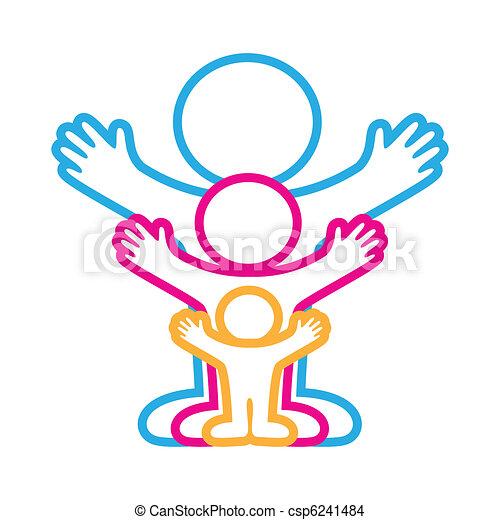 emblem-friendly-family - csp6241484