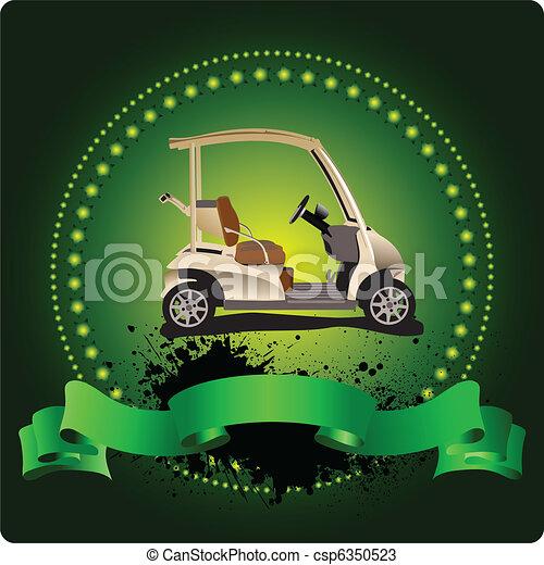 emblem., golfer, clube, illustra, vetorial - csp6350523
