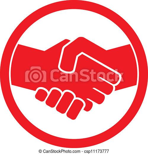 emblem), (handshake, håndslag, symbol - csp11173777