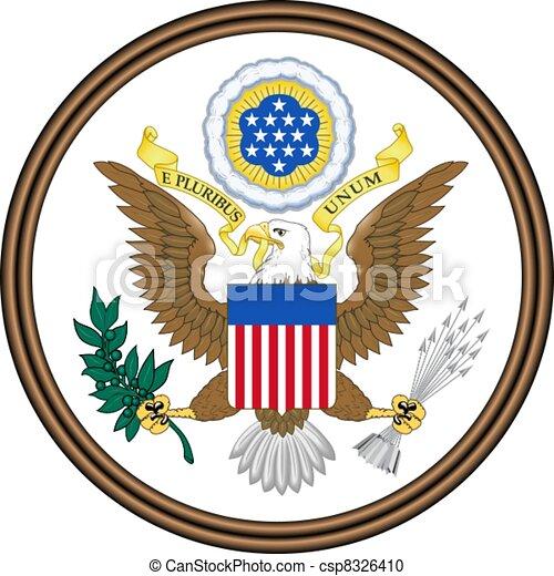 Emblem of USA - csp8326410