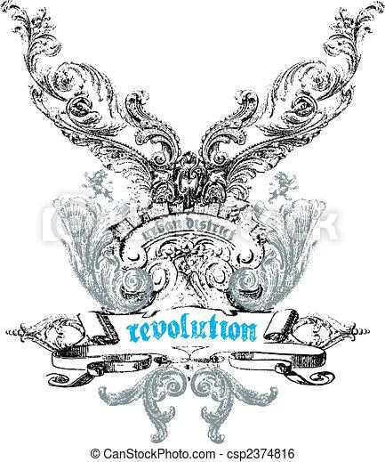 emblem, wappen, design - csp2374816