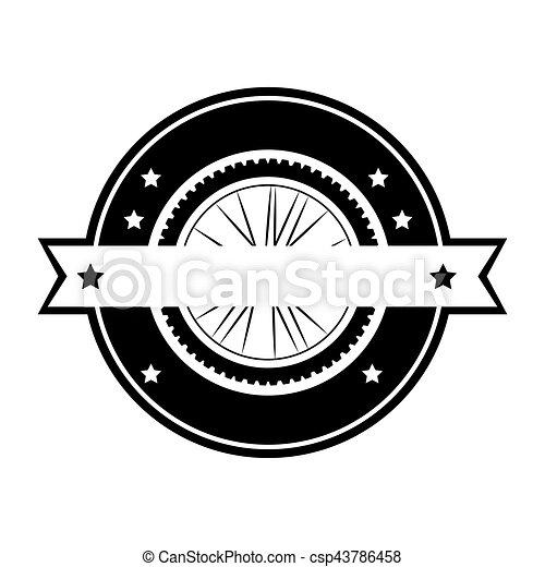 emblem with ribbon icon - csp43786458