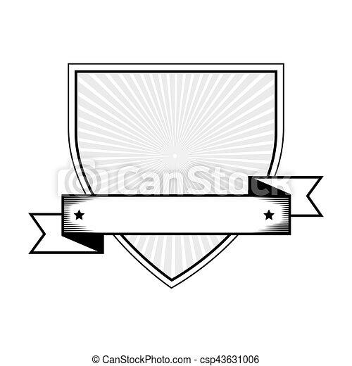 emblem with ribbon icon - csp43631006