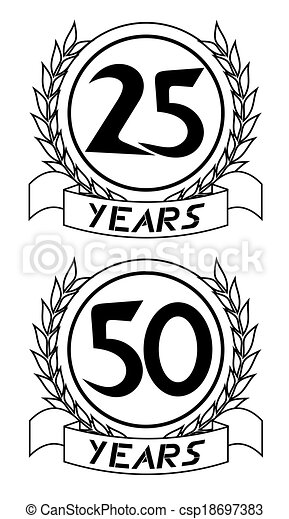 Emblem years - csp18697383