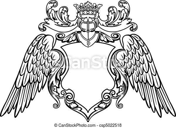 Un emblema alado - csp5022518
