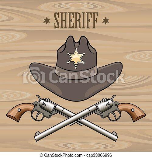 El emblema del sheriff - csp33066996