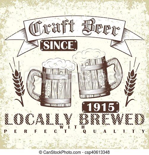 Un emblema de cerveza artesanal - csp40613348