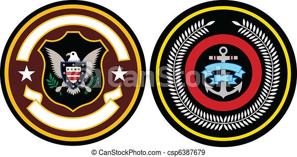 emblema, remendo, desenho - csp6387679