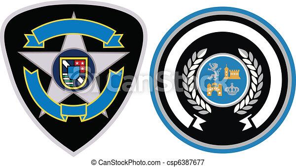 emblema, remendo, desenho - csp6387677