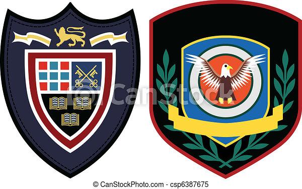 emblema, remendo, desenho - csp6387675