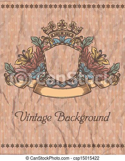 Emblem en el fondo de la cosecha - csp15015422