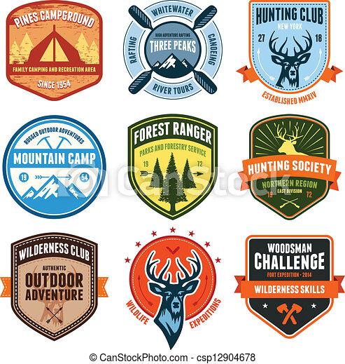 emblemas, ao ar livre - csp12904678