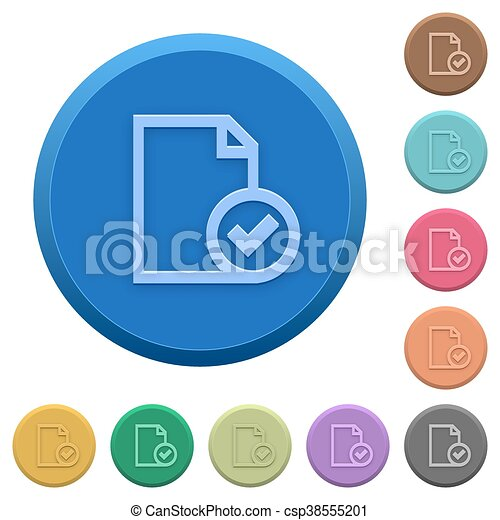 Embossed document accepted buttons - csp38555201