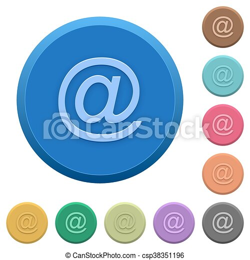 Embossed email symbol buttons - csp38351196