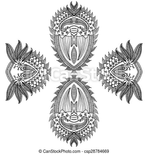 embrodiery abstract background - csp28784669