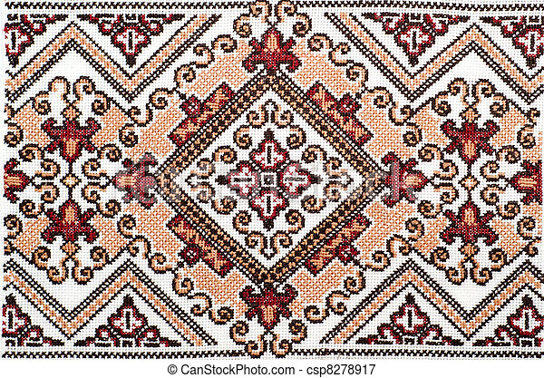 Embroidered Good By Cross Stitch Pattern Ukrainian Ethnic Ornament